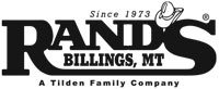 Rand's logo, Billings, MT. An S bar J Family Company.
